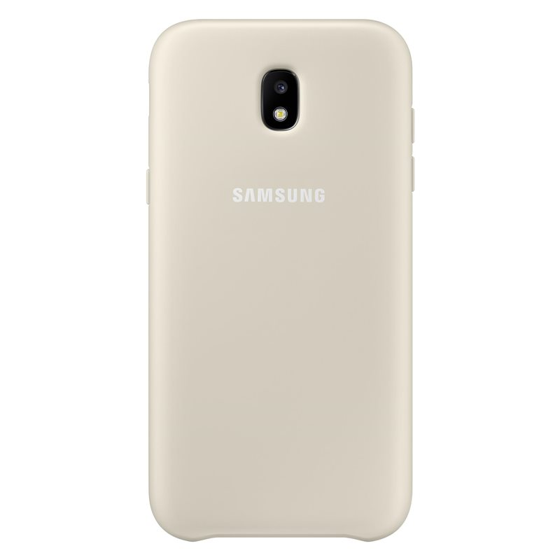 Pouzdro Samsung EF-PJ530CF Dual Layer Cover pro Galaxy J5 2017 zlaté