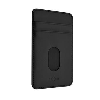 Nalepovací kapsa FIXED Caddy pro kreditní karty černá
