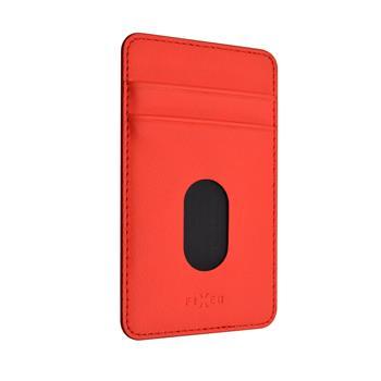 Nalepovací kapsa FIXED Caddy pro kreditní karty červená