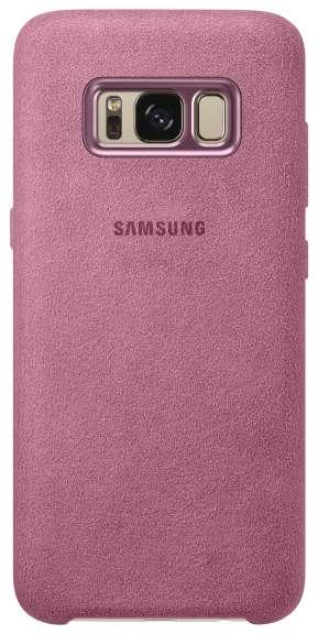 Pouzdro Samsung EF-XG955APE Alcantara kryt pro Samsung Galaxy S8 Plus Pink