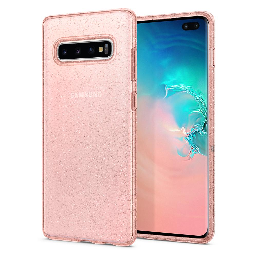 Pouzdro Spigen (606CS25763) Liquid Crystal pro Samsung G975F Galaxy S10 Plus Glitter Rose