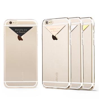 USAMS Dazzle Zadní Kryt Transparent Silver pro iPhone 6/6S