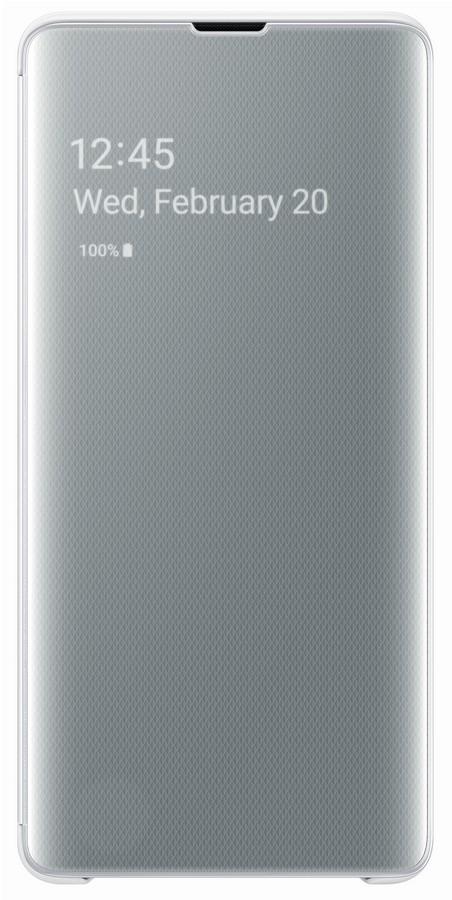 Pouzdro Samsung EF-ZG975CW Clear View pro Samsung G975 Galaxy S10 Plus bílé