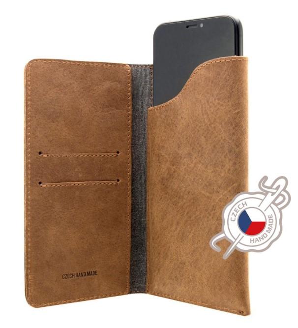 Pouzdro FIXED Pocket Book pro Apple iPhone X/Xs hnědé