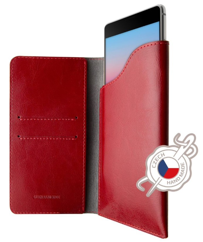 Pouzdro FIXED Pocket Book pro Apple iPhone Xr červené