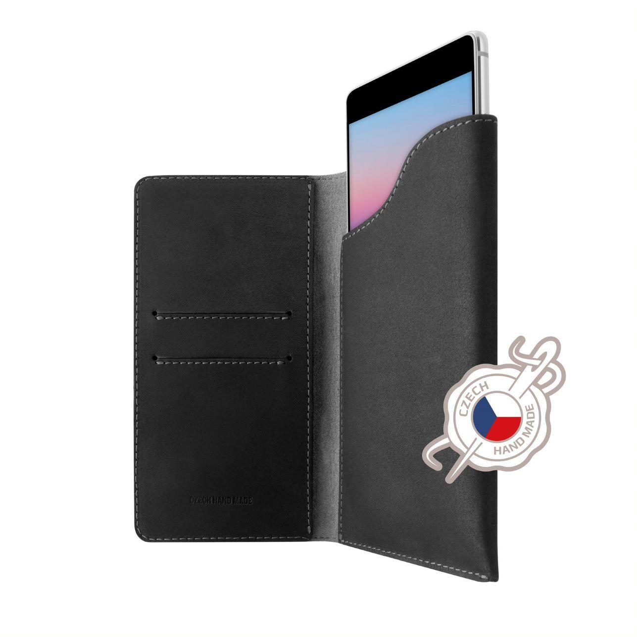 Pouzdro FIXED Pocket Book pro Apple iPhone Xr šedé