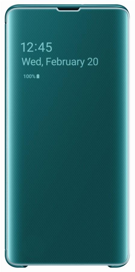 Pouzdro Samsung EF-ZG975CG Clear View pro Samsung G975 Galaxy S10 Plus zelené