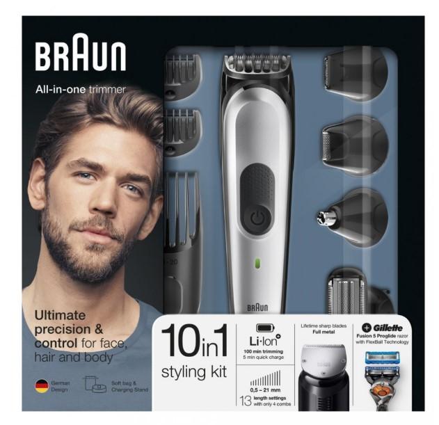 Sada na zastřihování vousů Braun MGK7020 (součástí Gillette Pro Glide)