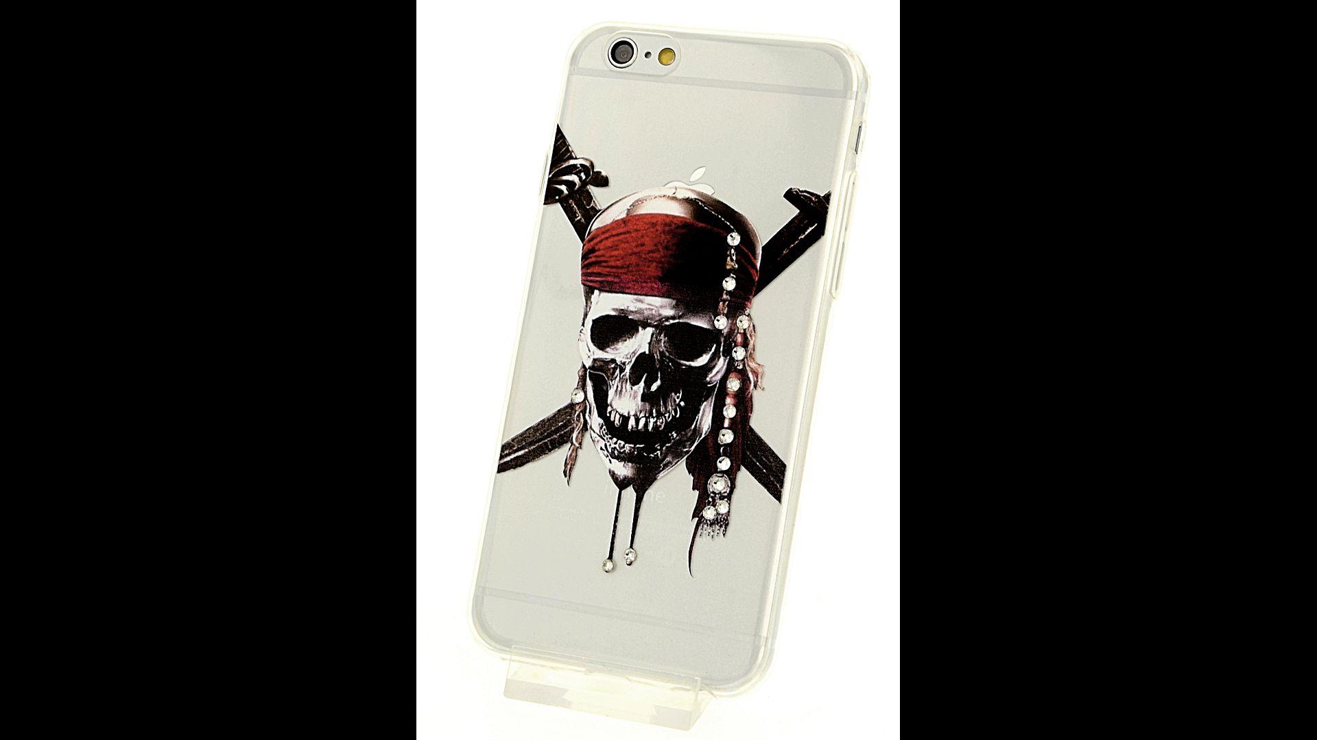 Silikonové pouzdro pro iPhone 6 a iPhone 6S Piráti z Karibiku