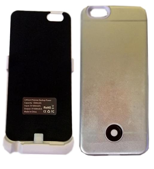 Zadní kryt pro Apple iPhone 6 s PowerBankou 3800 mAh stříbrný