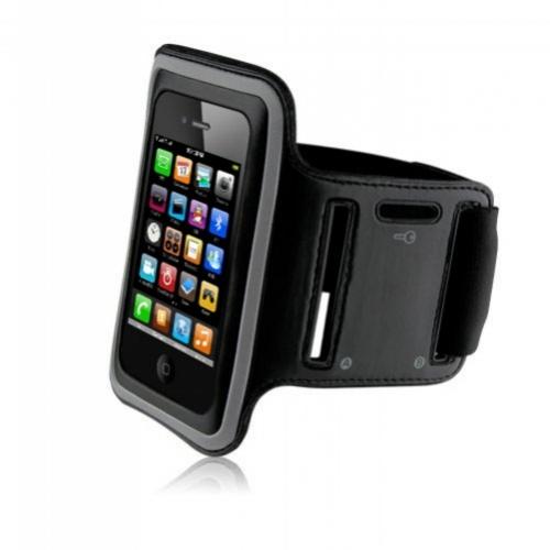 Sport Armband Kožené Sportovní Pouzdro pro Apple iPhone 4,4S Black