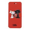 Pouzdro Karl Lagerfeld Choupette in Love Book pro Apple iPhone 5S/SE červené