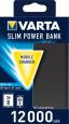 Powerbanka Varta Dual Type C SLIM 12.000 mAh Grey
