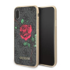 Pouzdro Guess 4G Flower Desire pro Apple iPhone X (GUHCPX4GROG) šedé