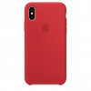 Pouzdro Apple Silicone Case pro Apple iPhone X - MQT52ZM/A (PRODUCT) Red