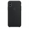 Pouzdro Apple Silicone Case pro Apple iPhone X/Xs - MRW72ZM/A Black