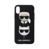 Pouzdro Karl Lagerfeld Karl and Choupette Hard Case Black pro Apple iPhone X