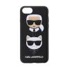 Pouzdro Karl Lagerfeld (KLHCI8KICKC) Karl and Choupette Hard Case pro Apple iPhone 7/8 Black
