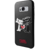 Pouzdro Karl Lagerfeld (KLHCS8LCL1BK) Karl and Choupette Hard Case pro Samsung Galaxy S8 Plus Black