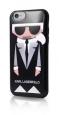 Pouzdro Karl Lagerfeld (KLHCP6KKORO) Karl and Choupette TPU Case pro Apple iPhone 6/6S Black