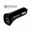 Autonabíječka Swissten Quick Charge 3.0 (18W) s MicroUSB kabelem černá