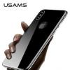 USAMS Tvrzené sklo 3D BH375 pro záda Apple iPhone X černé
