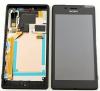 LCD displej + dotyková plocha + rám Sony Xperia M2 Aqua D2403 černý