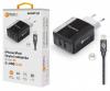 Nabíječka Aligator CHS0001 Smart IC 2x USB 3.4A s lightning kabelem černá