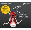 Vodafone SIM karta 100 Kč kredit předplacená na karta na data