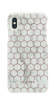 Pouzdro SoSeven (SSBKC0010) Milan Case Hexagonal Marble pro Apple iPhone X/Xs bílé