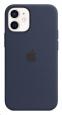 Pouzdro Apple (MHKU3ZM/A) Silicone Case (MagSafe) pro Apple iPhone 12 mini námořnicky modré
