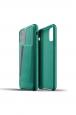Pouzdro MUJJO Full Leather Wallet Case pro Apple iPhone 11 zelené