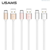 USAMS datový kabel USB Type-C Silver