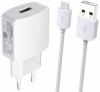 HW-050100E2W Huawei USB Cestovní Dobíječ + microUSB Datový Kabel White (Bulk)