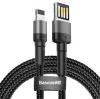 Baseus CALKLF-HG1 Cafule Kabel USB to Lightning Double Sided 1.5A 2m Grey/Black