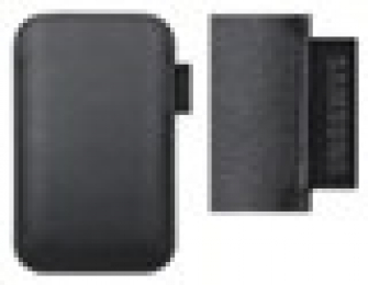 EF-C1A2P Samsung Kožené Pouzdro pro i9100 Galaxy S II Black