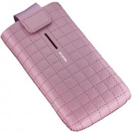 Nokia CP-505 Pink univerzální kožené pouzdro