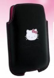 Hello Kitty Kožené Pouzdro Black vel. M