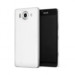 Pouzdro MOZO Back Cover Microsoft Lumia 950 bílý