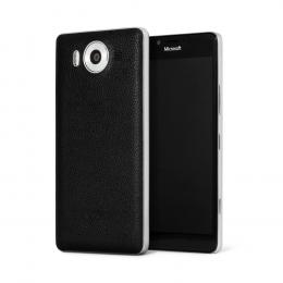 Pouzdro MOZO Back Cover Microsoft Lumia 950 stříbrný