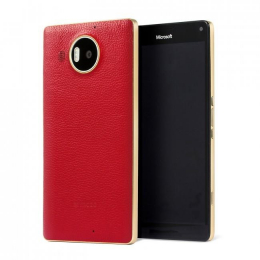 Pouzdro MOZO Back Cover Microsoft Lumia 950 XL Red Gold