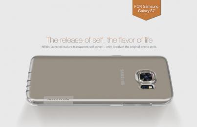 Pouzdro Nillkin Nature TPU Samsung G930F Galaxy S7 čiré