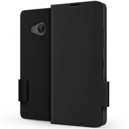 Pouzdro MOZO Flip Cover Classic Microsoft Lumia 550 černé