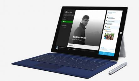Microsoft Surface Pro 3 / Intel Core i5 / 4GB RAM / 128 GB SSD + QWERTY Type Cover modrý