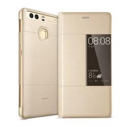 Huawei Original S-View Pouzdro Gold pro Huawei P9