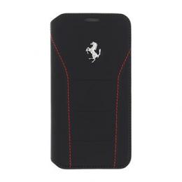 Pouzdro Ferrari 488 Book Silver/Red pro Samsung Galaxy S7