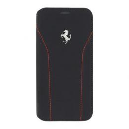 Pouzdro Ferrari 488 Book Silver/Red pro Samsung Galaxy S7 Edge