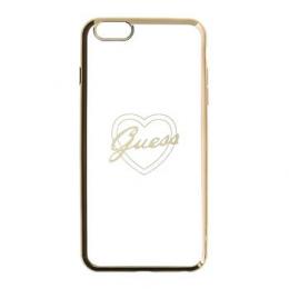 Pouzdro Guess Signature TPU Heart Gold pro iPhone 6/6S