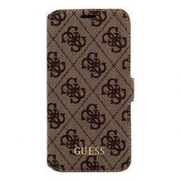 Pouzdro Guess 4G Book Brown pro Samsung Galaxy S7 G930F