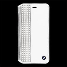 Pouzdro BMW Book Perforated iPhone 6 Plus bílé